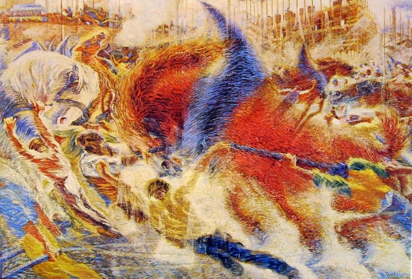 Umberto Boccioni, La città che sale, 1910, Moma New York