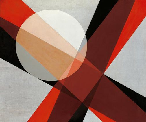 Lazlo Moholy-Nagy, A 19, 1927 Oil on canvas, 830 x 990 mm