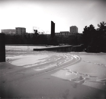 Berlino, Neve alla Neue Nationalgalerie, 2010