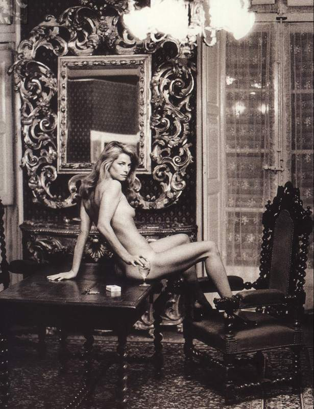 Helmut Newton, Charlotte Rampling at the Hotel Nord Pinus II, Arles, 1973