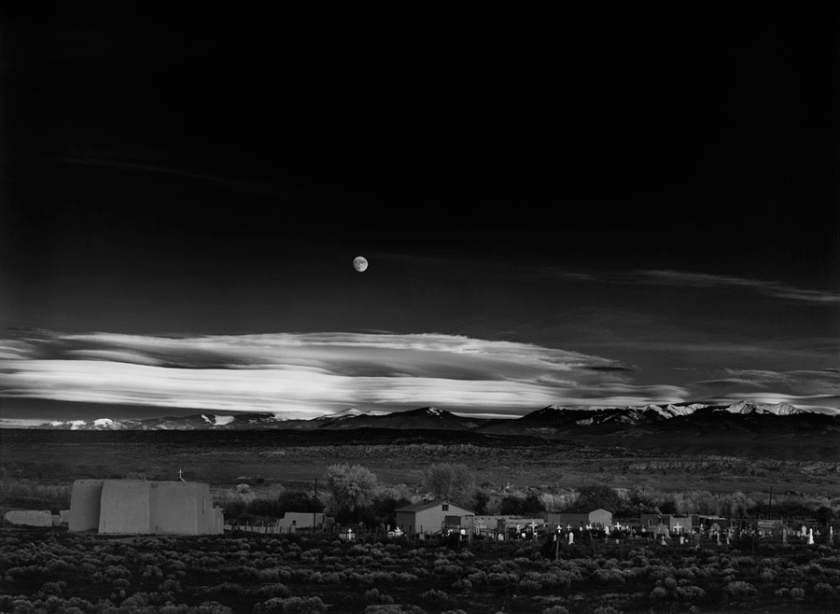 Ansel Adams, Moonrise, Hernandez, New Mexico, 1941