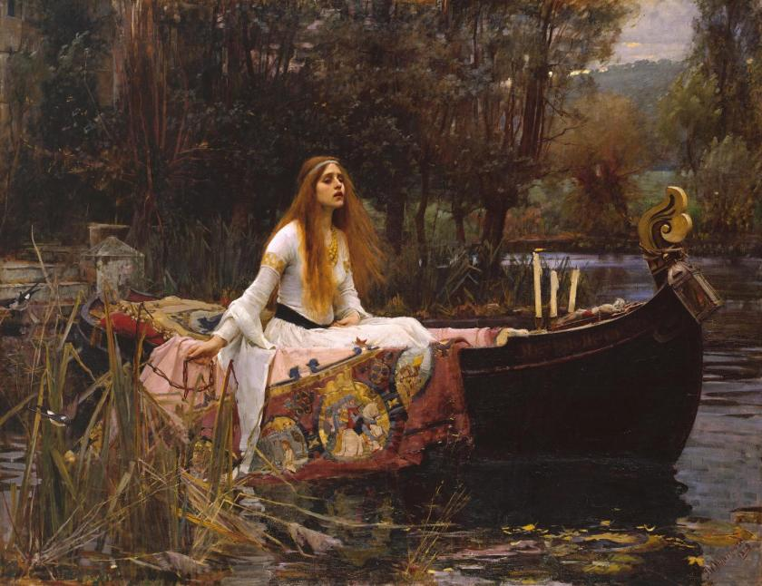 John William Waterhouse, The Lady of Shalott, 1888, olio su tela, Tate Gallery Londra