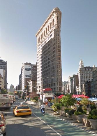 Il Flatiron oggi su Google Street View