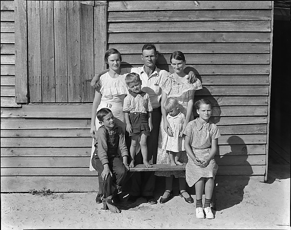 The Burroughs Family, Hale County, Alabama, 1936