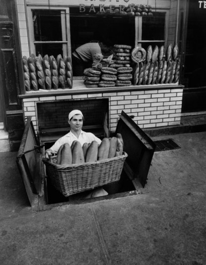 Berenice Abbott, A. Zito's Bakery Bleecker Street New York 1947