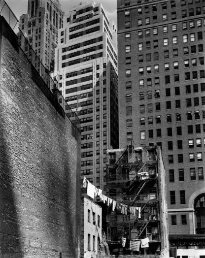 Berenice Abbott, Construction Old and New, 38 Greenwich Street, New York, 1936