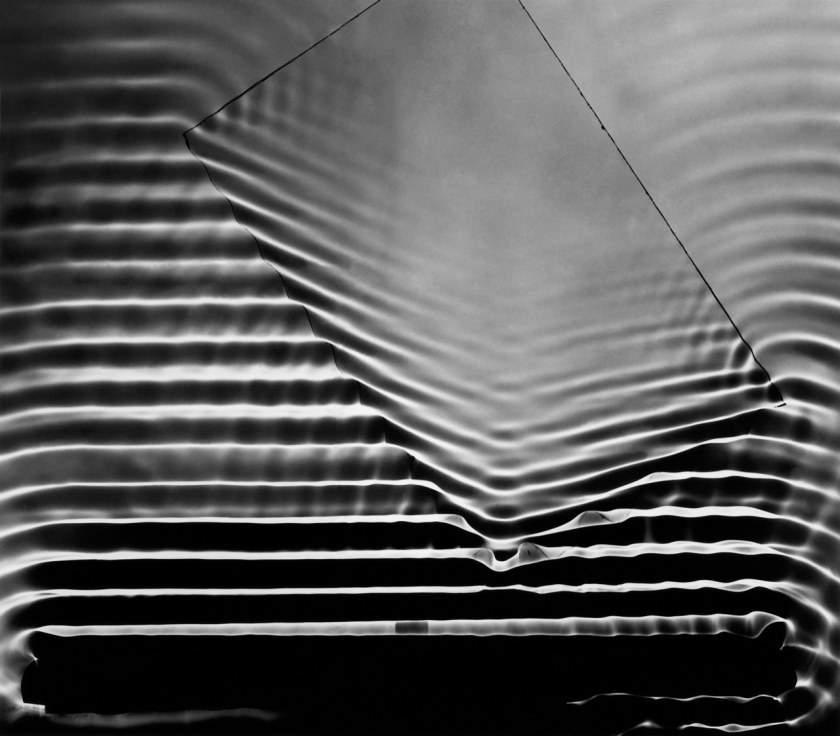 Berenice Abbott, Wave Pattern with Glass Plate, Cambridge, Massachusetts, 1958–61